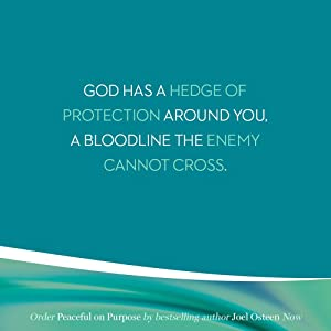 God has a hedge of protection around you. A bloodline the enemy cannot cross.