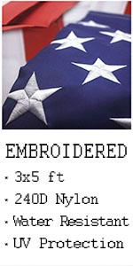 VSVO American Flag 3x5 ft -  US Outdoor Indoor Flags - Embroider Stars