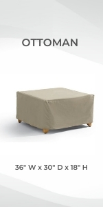 Formosa Covers ottoman footrest Outdoor Dining Chair Cover Protect Heavy Duty Against Rain Sun