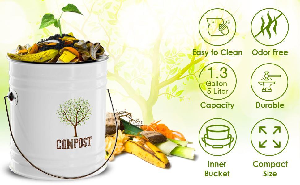 Compost bin inner bucket