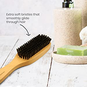 Smooth Natrural Boar Bristles Brush