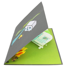 The Camping Trip pop up card is perfect for Father's Day Thanksgiving, birthdays, graduations