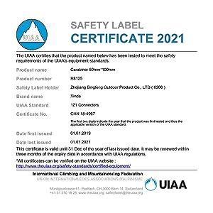 uiaa certified carabiner