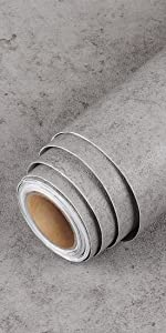 Thick Gray Concrete Wallpaper Decorative Self Adhesive Wallpaper Waterproof Cement Contact Paper