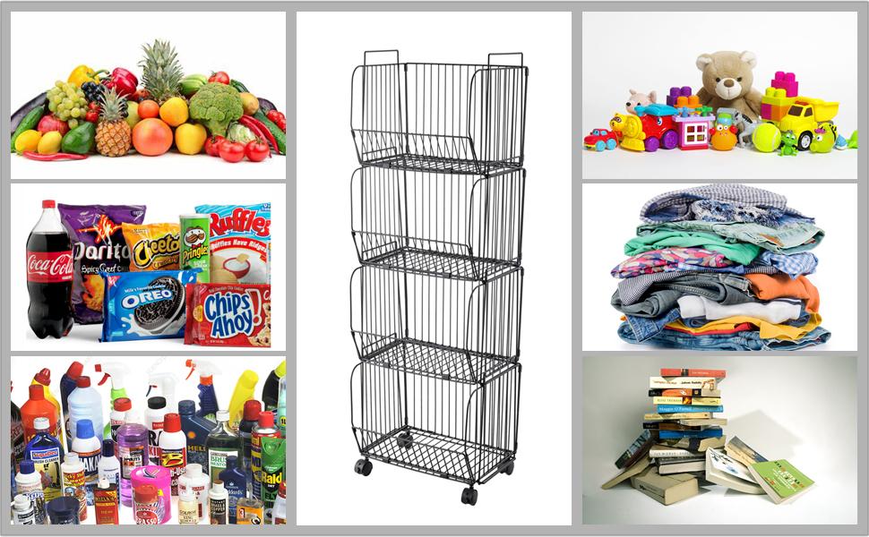 wire baskets forvegetables fruits