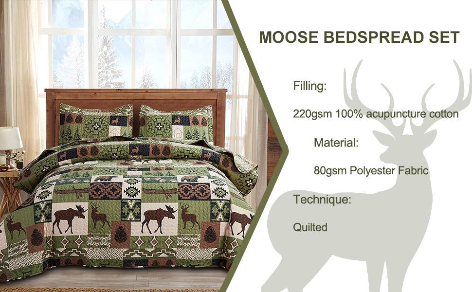 matcha green moose quilt