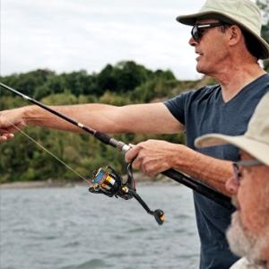 A fisherman went fishing with our fishing poles reels combo