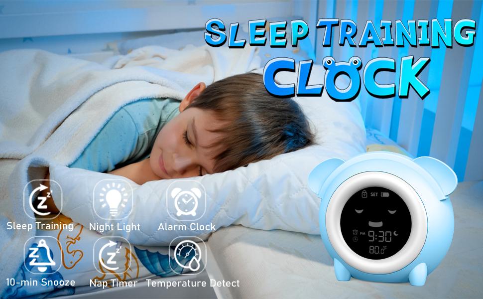 digital alarm clock for bedroom ok to wake clock kids alarm clock