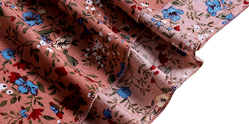 Dark pink floral print midi dress