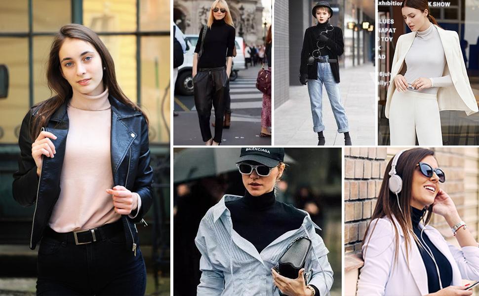 women's turtleneck shirts