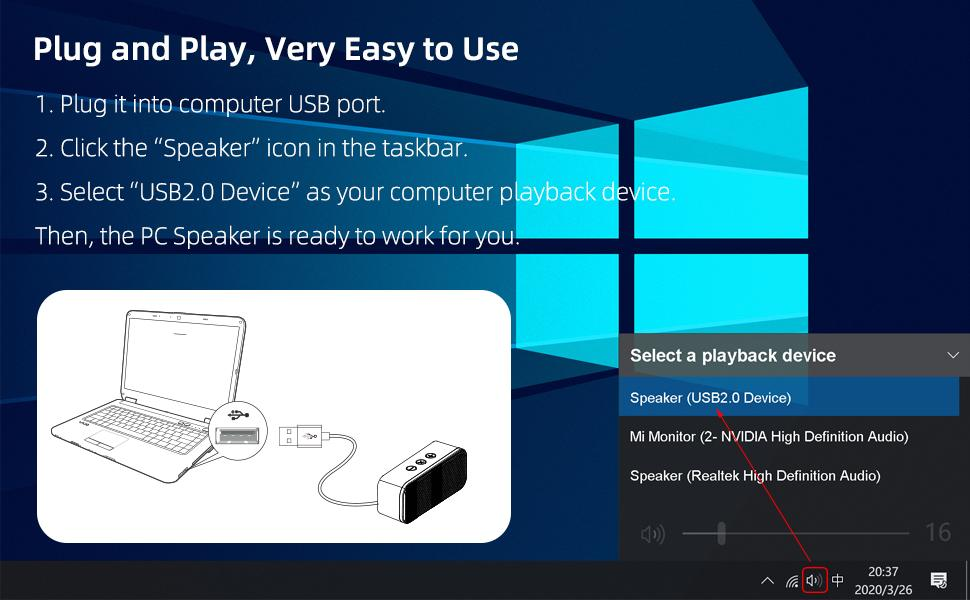 Just plug & play, very easy to use