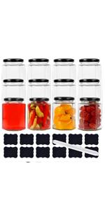 9 oz oz Hexgon Jars