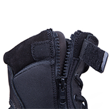 tactical boots with side zip