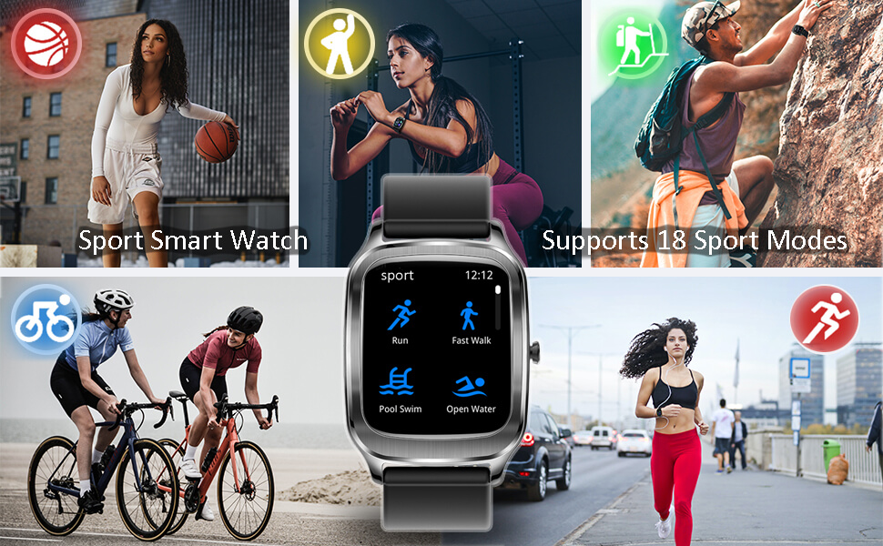 smart watch for sports, swimming, running.