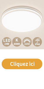 Öuesen Plafonnier LED 24w 4000k 2250lm 32cm