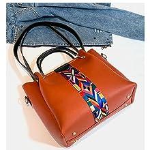 combo bags, combo handbags, yellow bags, tan handbags for women, strip handbags, front strip bag