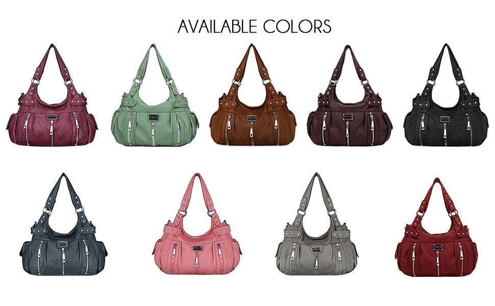 many colors to choose from such as purple, mint, brown, dark brown, black, blue, pink, grey and red