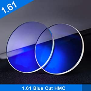 Blue color reflective coating on the lens.