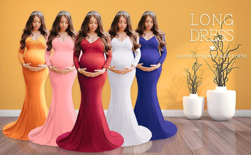 Long Lace Maternuty Dress