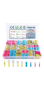 Tsinglax 550PCS Heat Shrink Wire Connectors Kit