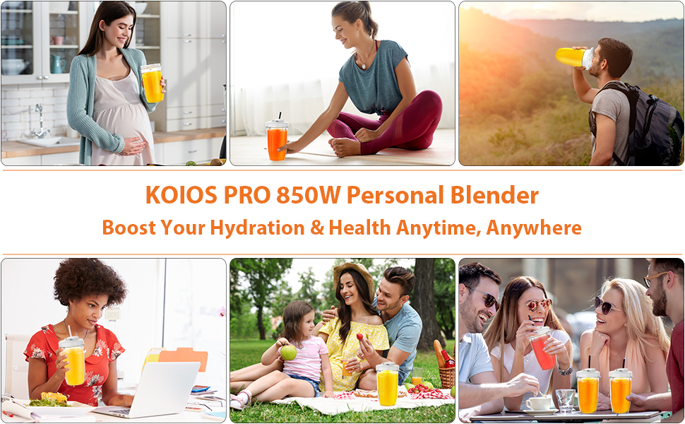 KOIOS gives you hydration and health boost anytime anywhere even when travel hiking or picnic