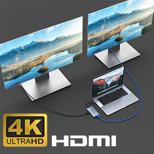 4K HDMI Hub USB C