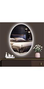 led oval mirror for bathroom