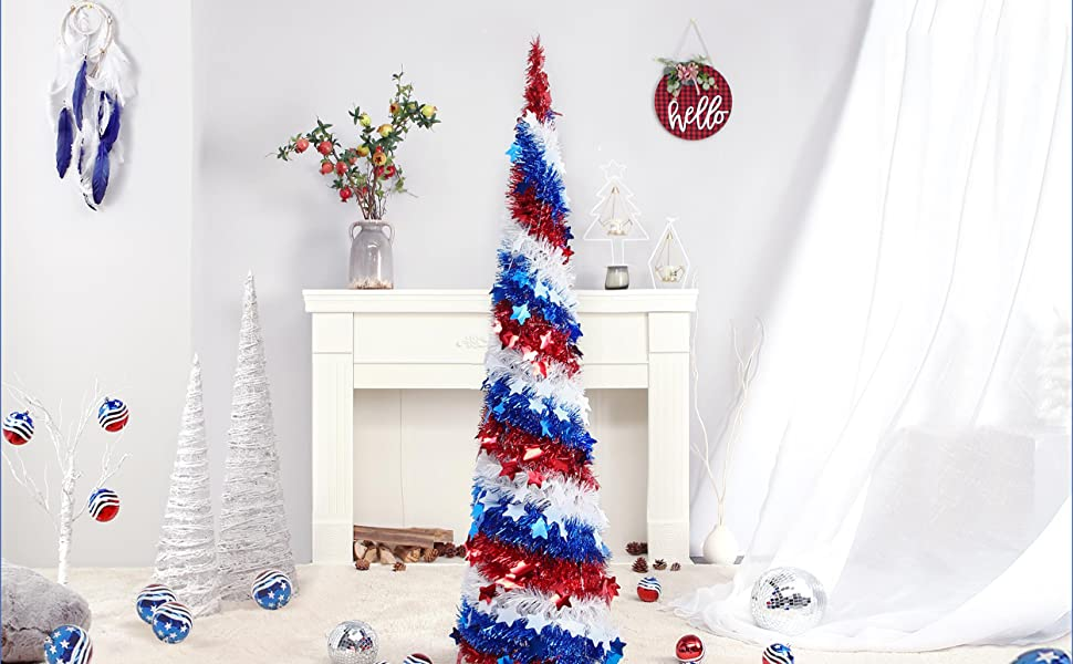 Independence Day Flag Tree