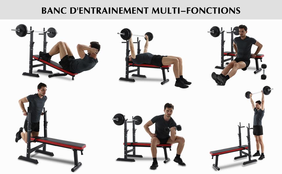 Profitez de votre exercice avec ISE Banc de musculation réglable