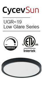 UGRlt;90 led ceiling light