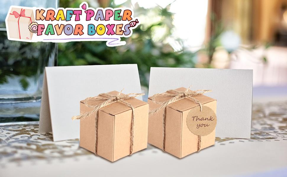 Kraft Paper Favor Boxes