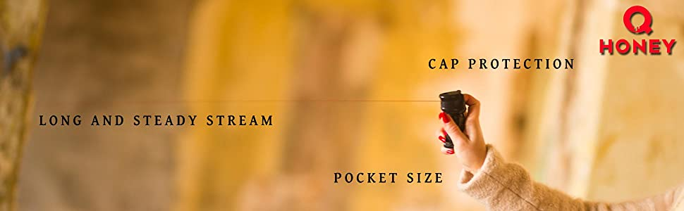 Steady stream, pocket size, cap protection