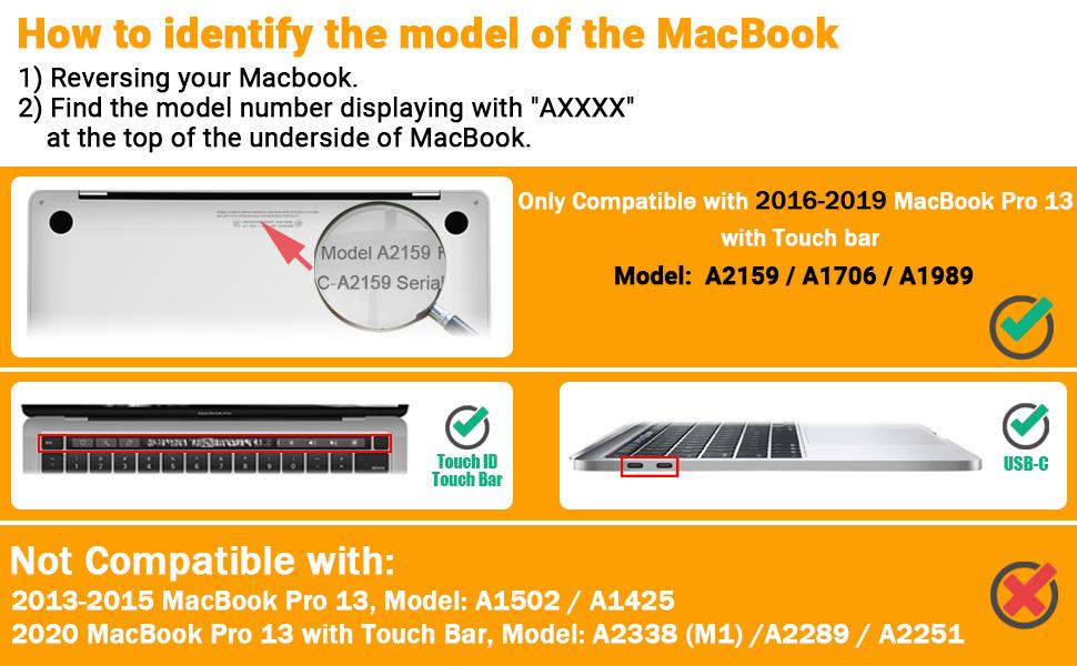 2016-2019 MacBook Pro 13 Touch bar model