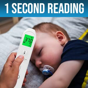 1 second reading baby adult temperature thermometer gun