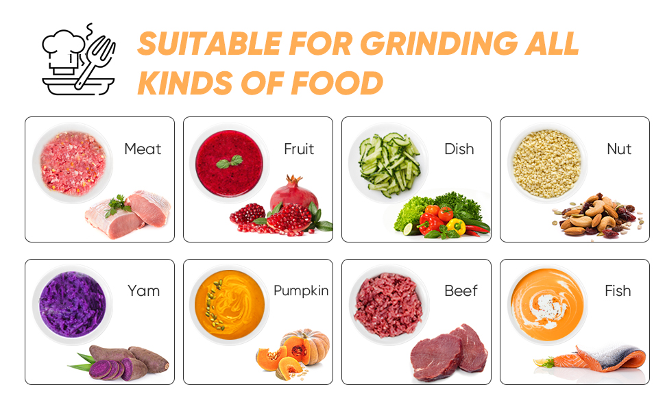 SUITABLE FOR GRINDING ALL KINDS OF FOOD