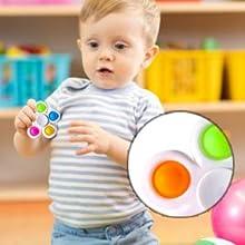 Push Poo Fidget Toys 2 Packs, Push-Pop Bubble Fidget Sensory Spinner for Kids Adults ADHD Anxiety