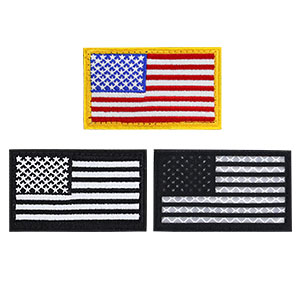 3 flag patches