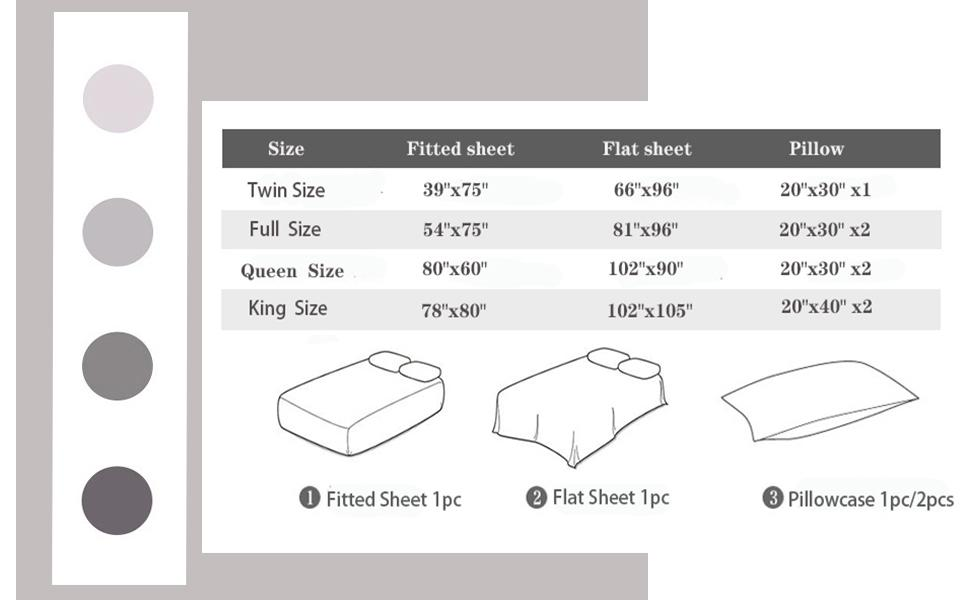 KFZ Solid Sheets Set by Bedding Size