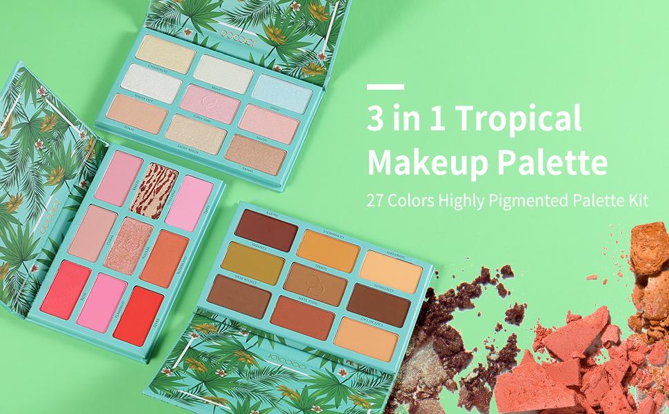 eyeshadow palette,makeup palette docolor,highlighter makeup blush and highlighter palette