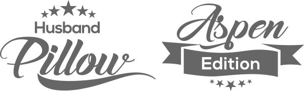 Husband Pillow Aspen Edition logos