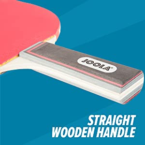 Straight wooden handle