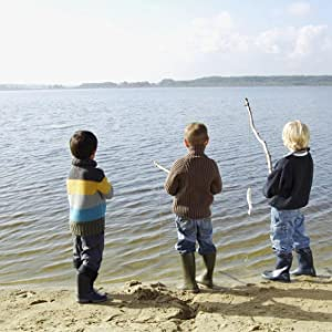 Children enjoy fishing
