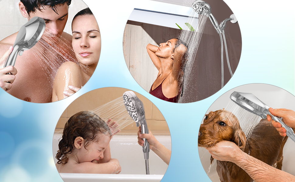 BOWGER Handheld Shower Head Meet All Your Needs