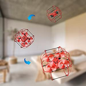 3D Flips of stunt drone