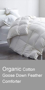 Organic Cotton Goose Down Feather Comforter