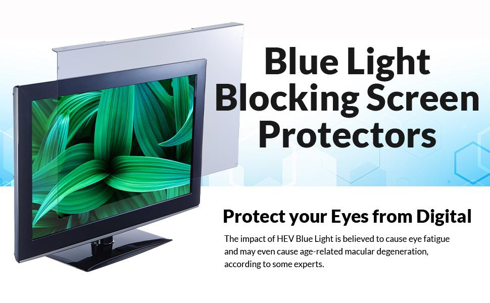 Blue Light Protector Screen Panel HEV Blue light Apple Mac PC Laptops Notebooks Monitor Blocking