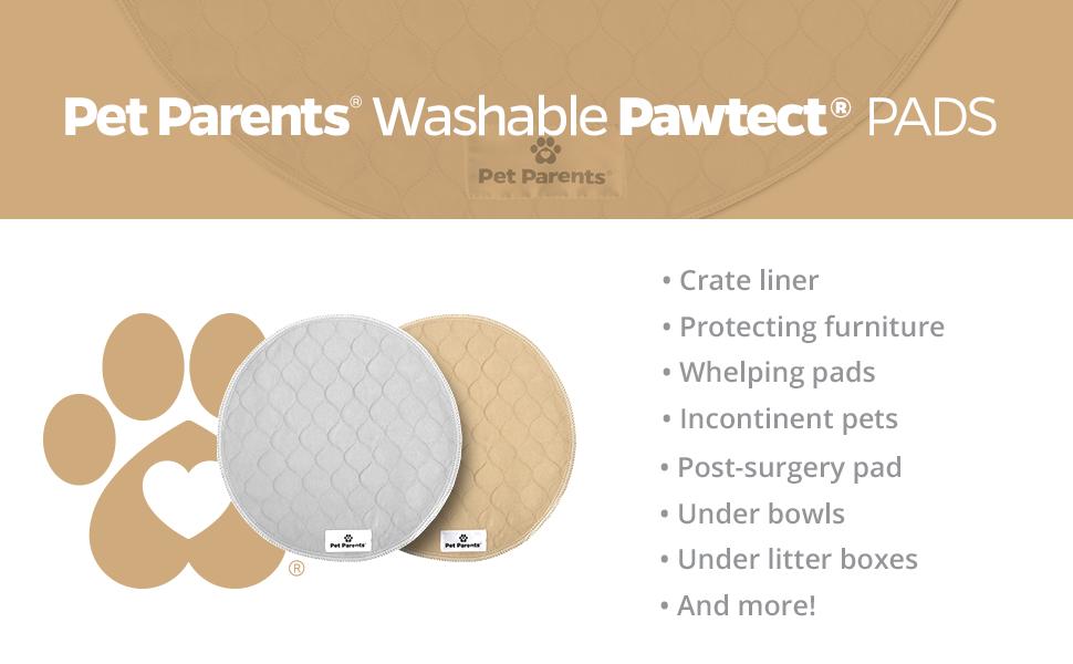 Dog pee pad, whelping pad, washable puppy pad, round pee pad