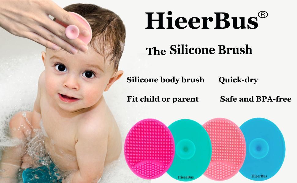 silicone baby body face head brush scrubber