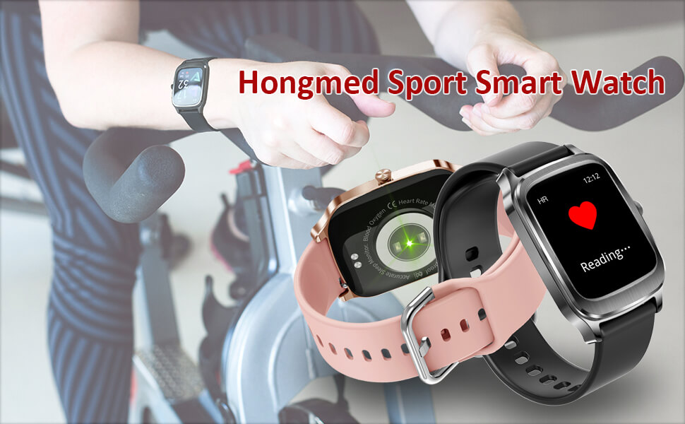 smart watch with heart rate monitor, sleep tracking.