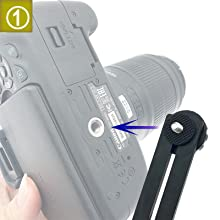 Connect your camera to the dual flash bracket by 1/4amp;#39;amp;#39; screw.